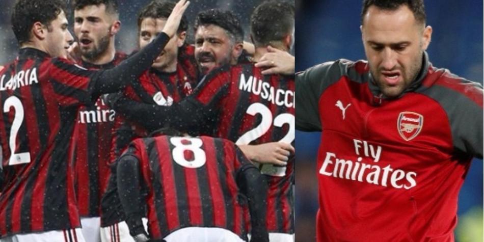 El Milan, un atractivo reto para David Ospina y el Arsenal en Europa League