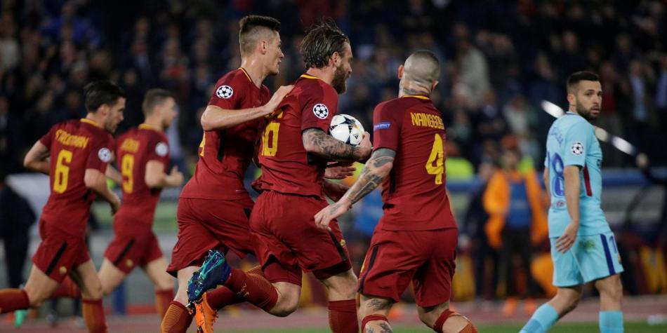 Los gladiadores de Roma ganaron la batalla: derrotaron 3-0 a Barcelona