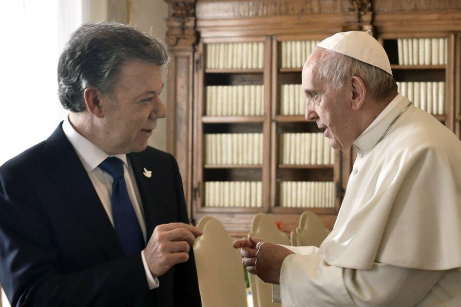 El papa Francisco y el presidente Santos se reunirán el 28 de junio en el Vaticano