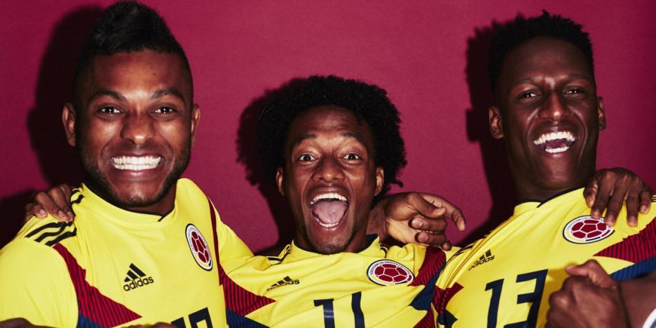 Jugadores de Colombia se divirtieron en las fotos oficiales de la Fifa