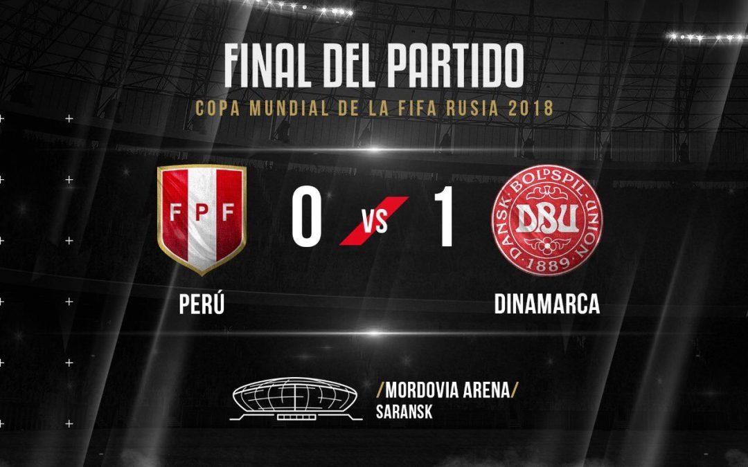PERÚ PERDIÓ 1-0 CON DINAMARCA
