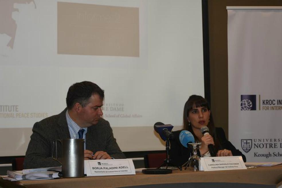 Implementación del Acuerdo de Paz en Colombia ha avanzado en un 61%