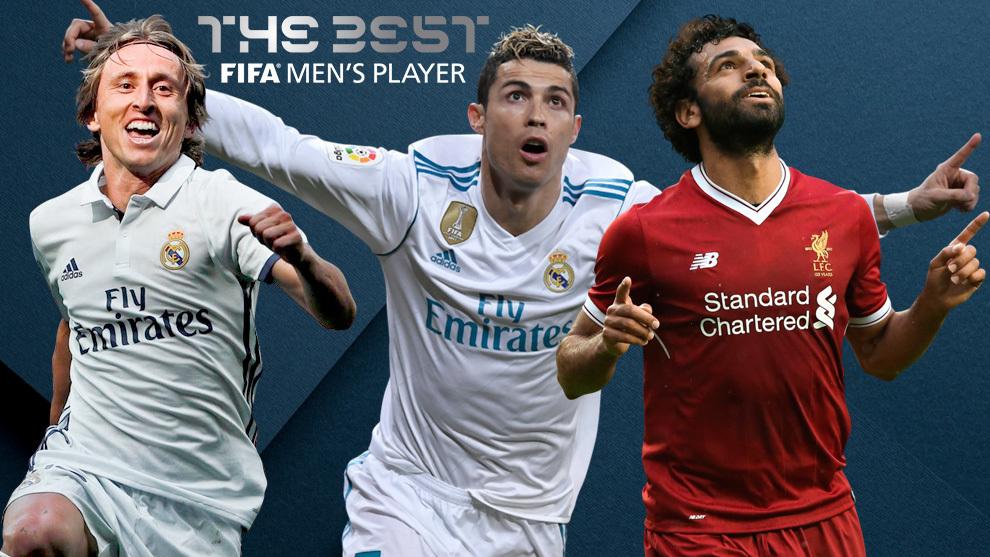 Cristiano Ronaldo, Mohamed Salah y Luka Modric, finalistas del premio 'The Best 2018'