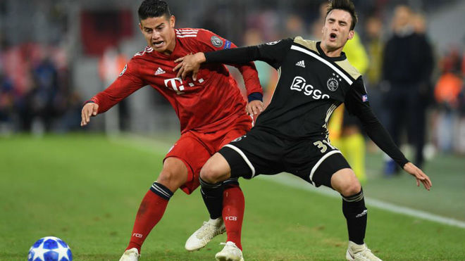 Kovac deja a James en la banca y el Bayern tropieza por tercer partido consecutivo