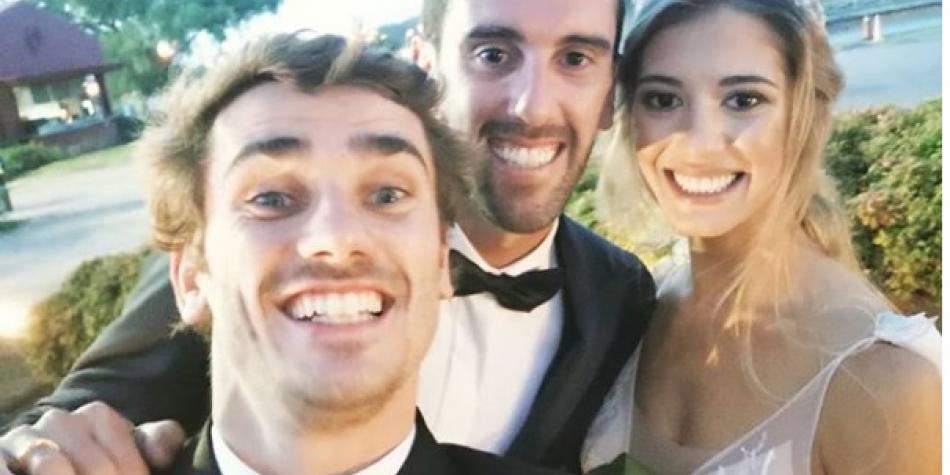 La parranda de Arias y Griezmann en la boda de Diego Godín