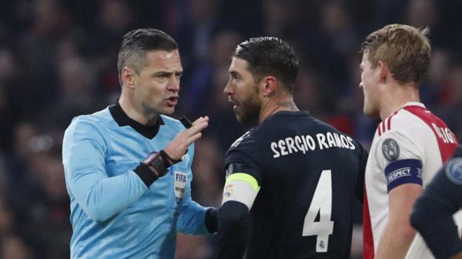 Sergio Ramos, sancionado dos partidos en Champions por forzar la tarjeta amarilla
