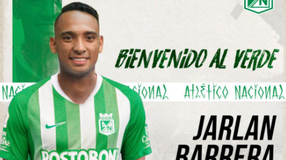 Oficial: Jarlan Barrera es nuevo jugador de Atlético Nacional