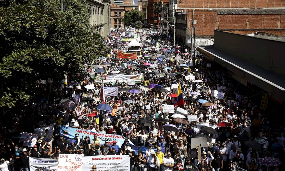 Paro nacional: marchas, plantones y presencia del Esmad en varias ciudades de Colombia