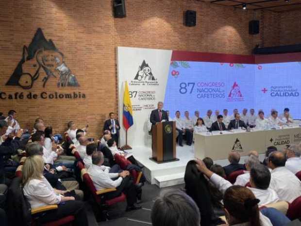 «Espero ser el presidente que aterrice en el Aeropuerto del Café»: Iván Duque durante el cierre del Congreso Cafetero
