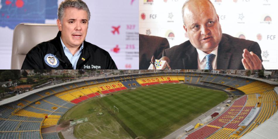 'Sería irresponsable volver al fútbol a puerta cerrada': Iván Duque